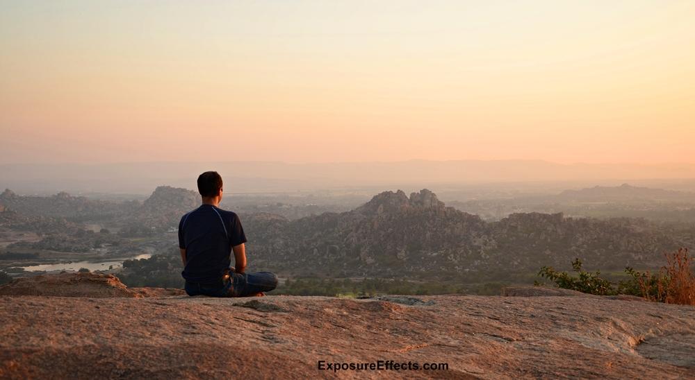 Hampi Meditating at Anjana Parvath