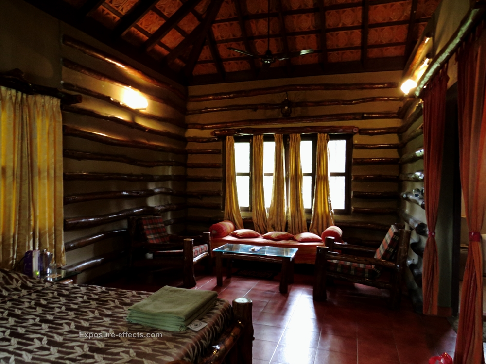Jungle Lodges and Resorts Cottage Interiors at Dubare Elephant Camp