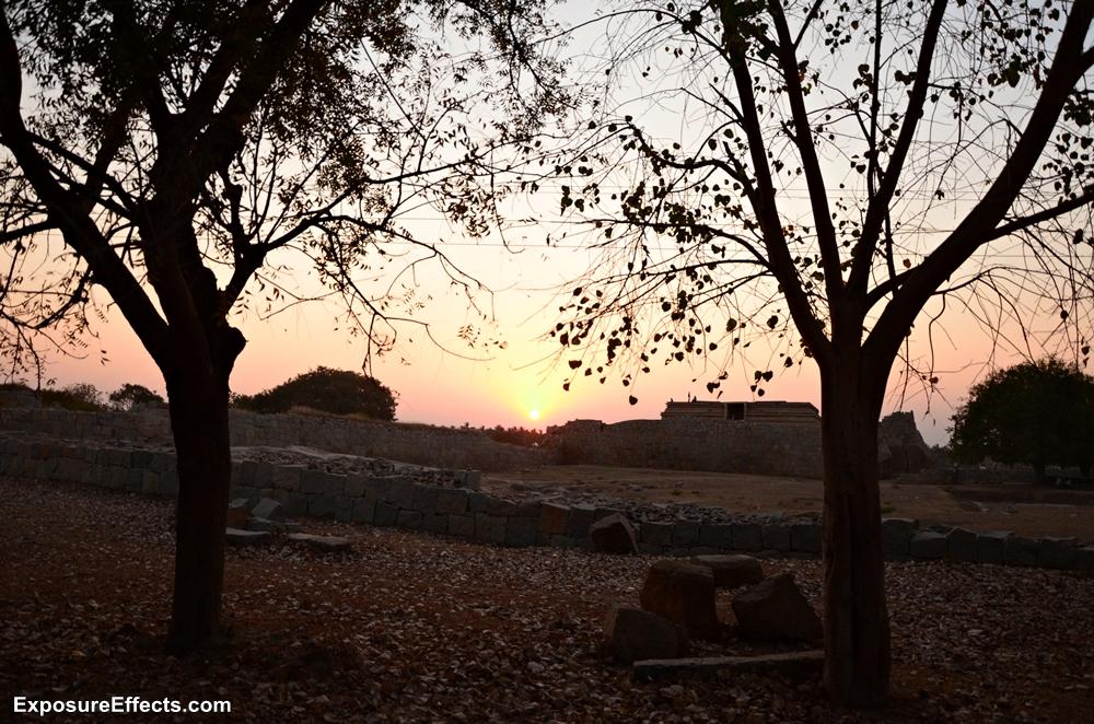 Sunset pictures Hampi Vijayanagara