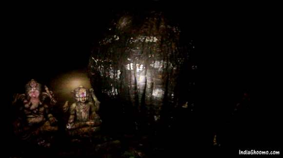 Shivling inside Kavala Caves in Dandeli
