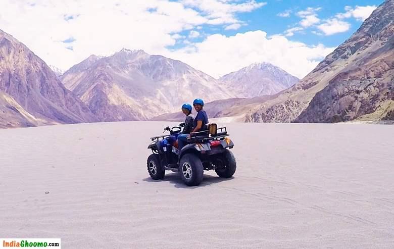 Ladakh ATV Ride Hunder Sand Dunes
