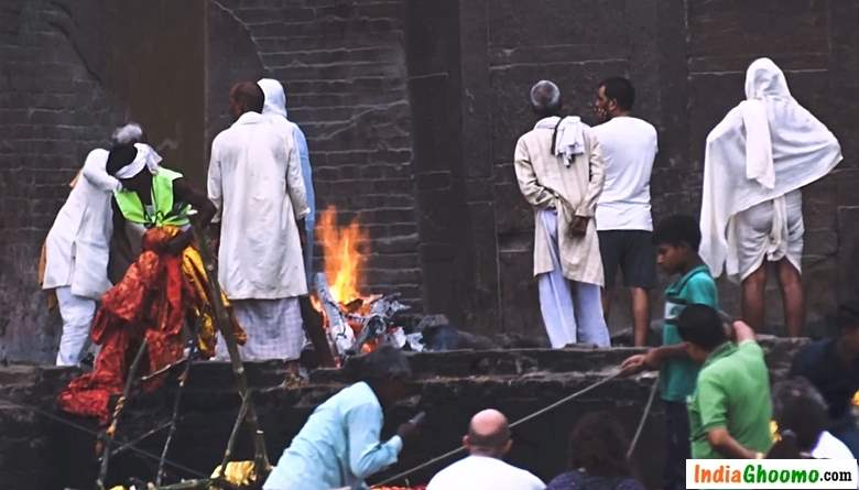 Varanasi Cremation Ghat - Burning Ghat - Manikarnika