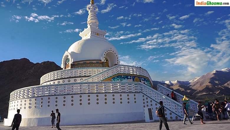 Shanti Stupa in Leh Ladakh