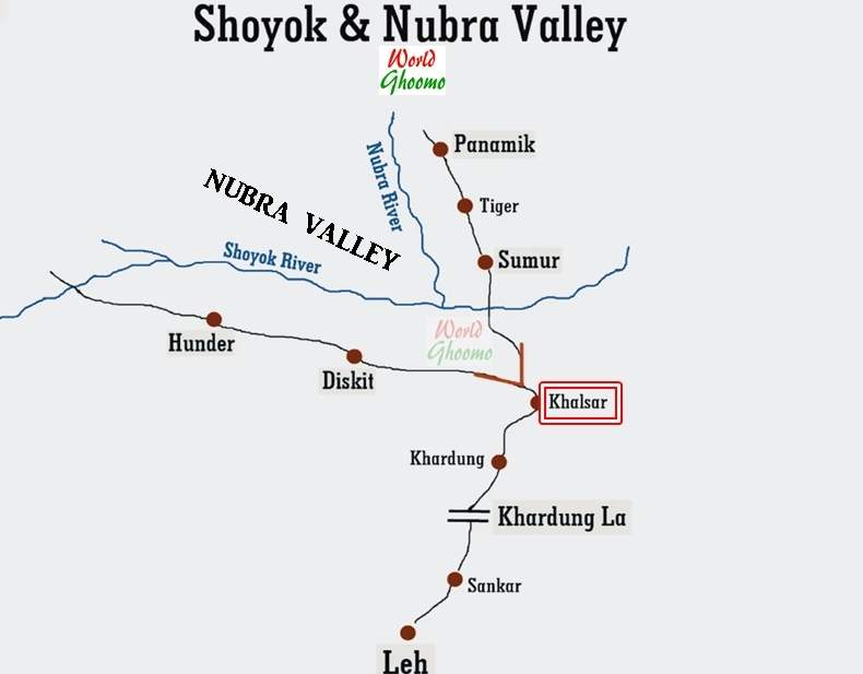 Nubra Valley location map